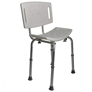 PCP Adjustable Bath U0026 Shower Safety Seat/Bench With Backrest, White