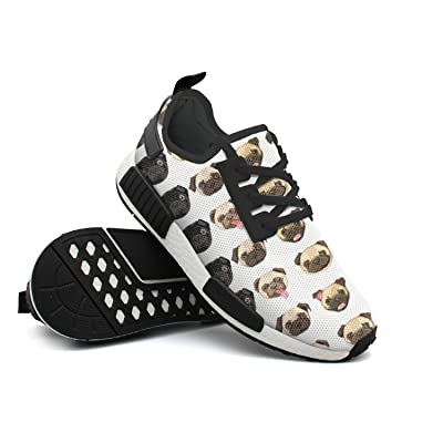 Pugs Love Them Young Women Comfortable Custom Casual Running Shoes Printing Men's