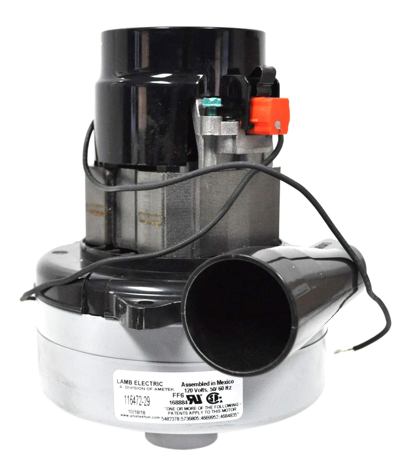 Ametek Lamb 5.7 Inch 2 Stage 120 Volt B/B Tangential Bypass Vacuum Motor 116472-29 by Ametek