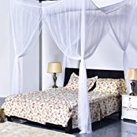Divyanshi Mosquito Net Mosquito Net, 4 Corner Post Bed Canopy, Quick and Easy Installation for King Size Beds Large Queen Size Bed Curtain