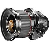 Walimex Pro 24mm 1:3,5 DSLR Tilt-Shift Objektiv für Nikon F Objektivbajonett schwarz (manueller Fokus, für Vollformat Sensor gerechnet, IF, Filterdurchmesser 82mm, zwei ED-Linsen)