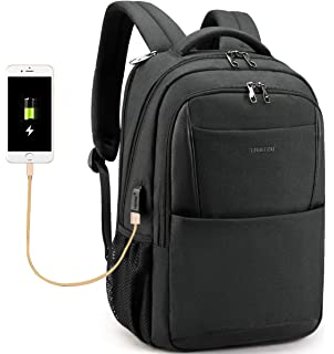 Tigernu Business Laptop Backpack,Travel Anti Theft Slim Computer Backpacks with USB Charging Port,