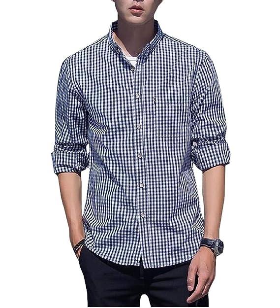 Lutratocro Boys Casual Long-Sleeve Button-Down Plaid Top Shirt