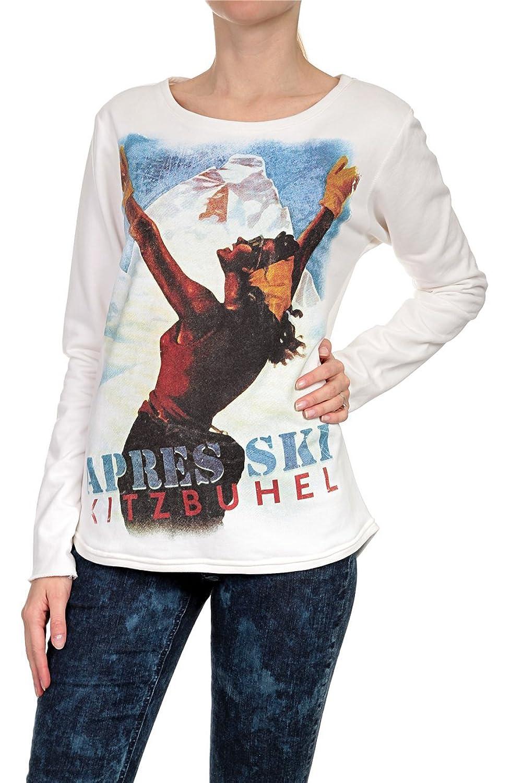 Hotspot Damen Sweatshirt APRES SKI, Farbe: Weiss