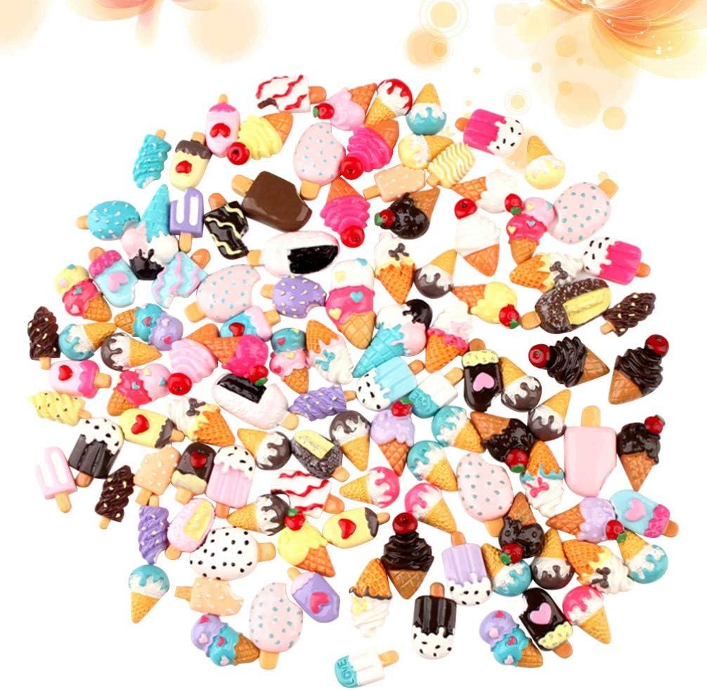 HEALLILY ciondoli melma di Resina Caramelle Miste di Gelati di Resina Perline di melma Flatback Che producono Forniture per Fai da Te Scrapbooking Artigianato 50 Pezzi