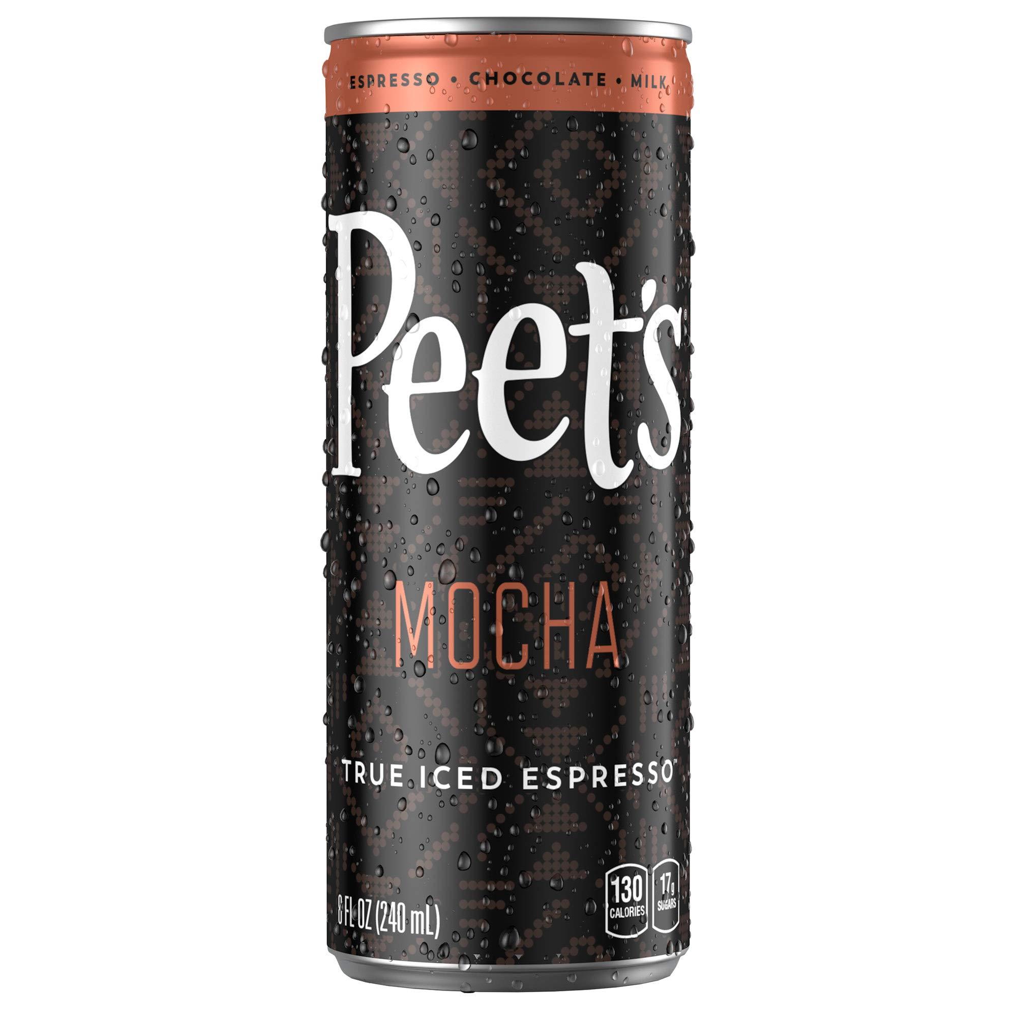 Peet's Iced Espresso Mocha Chocolate 8 oz Can (12 Count) Single-Origin Colombian Espresso with Dutch Process Cocoa & Milk 110 Calorie 17 grams of sugar by Peet's Coffee (Image #3)