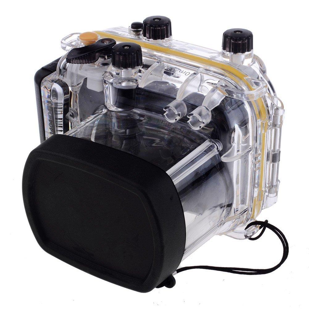 Market&YCY 40 m / 130 フィート 防水 ハウジング ダイビング ハード保護ケース Canon G11 / G12用   B07KLWLGKB