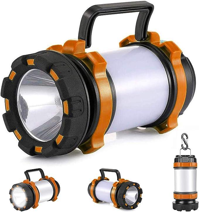 Camping Tent Lantern Portable Fishing Light for Multi Purpose Use Black