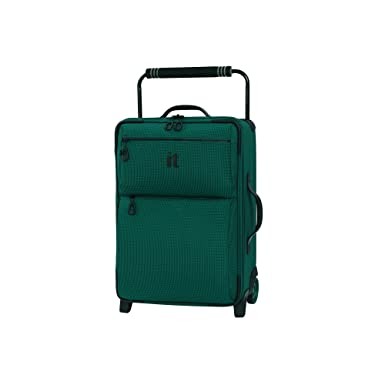 ad1927c3e48 IT Luggage 21.8 quot  World s Lightest Los Angeles 2 Wheel Carry On, Alpine  Green