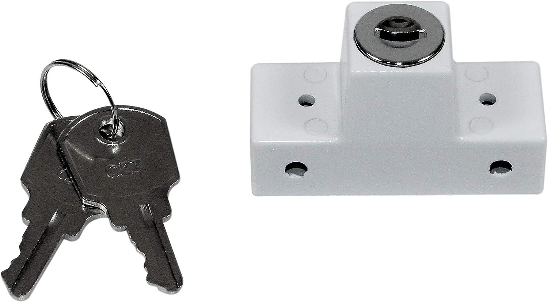 GU Fenstersicherung//Drehsicherung Einbruchschutz weiß mit 2 Schlüsseln