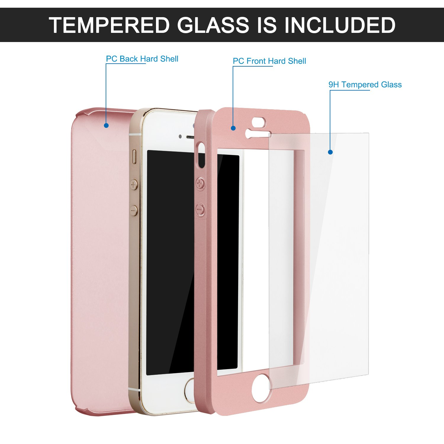 Hardcase Case 360 Iphone 6 6s Casing Full Body Cover Clear Bening Calandiva Shell Tempered Glass For Oppo F7 623 Inch Merah Amazoncom 5s 5 Se