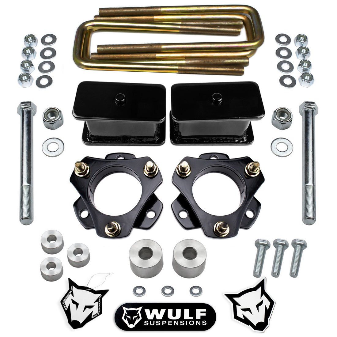 WULF 2005-2018 Toyota Tacoma 3' Front 3' Rear Lift Kit Differential Drop 2WD 4WD 4X4 Suspensions 6 Lug Models ONLY Wulf Suspensions