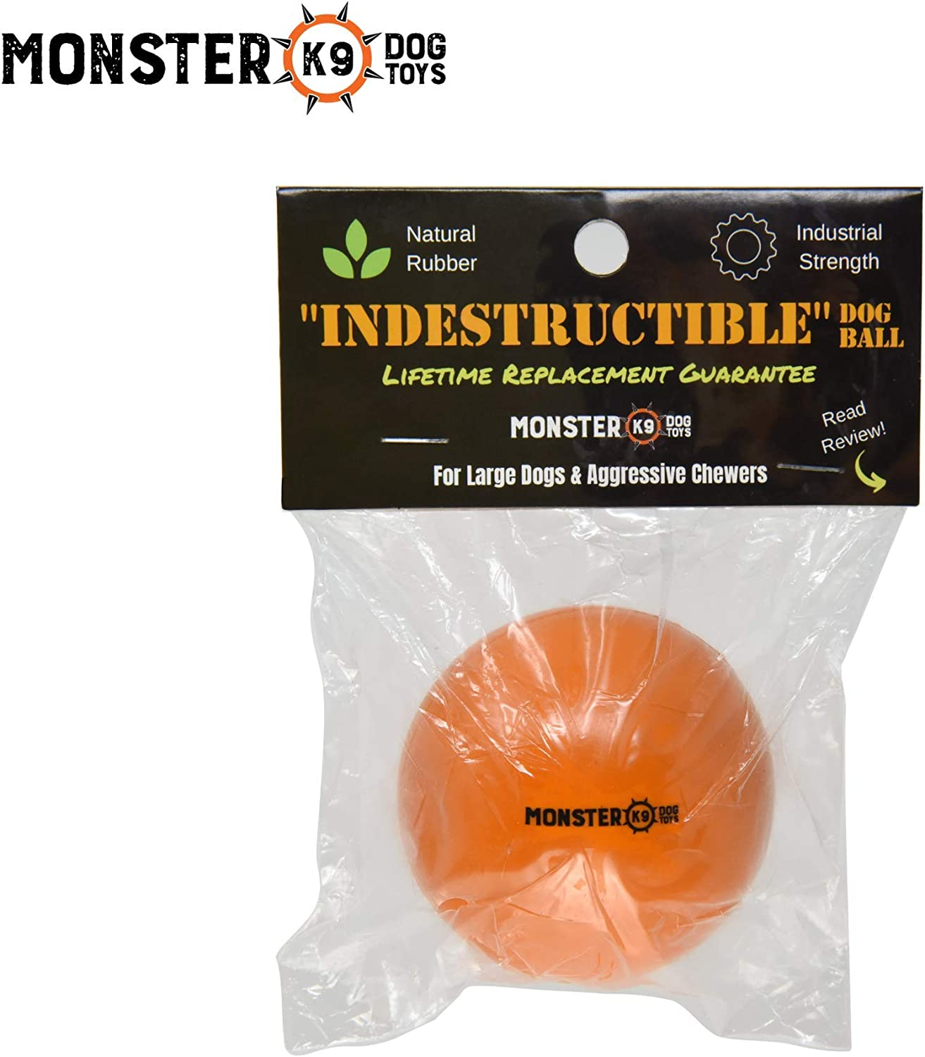 Monster K9 Dog Toys - Pelota de perro indestructible: Amazon.es: Hogar
