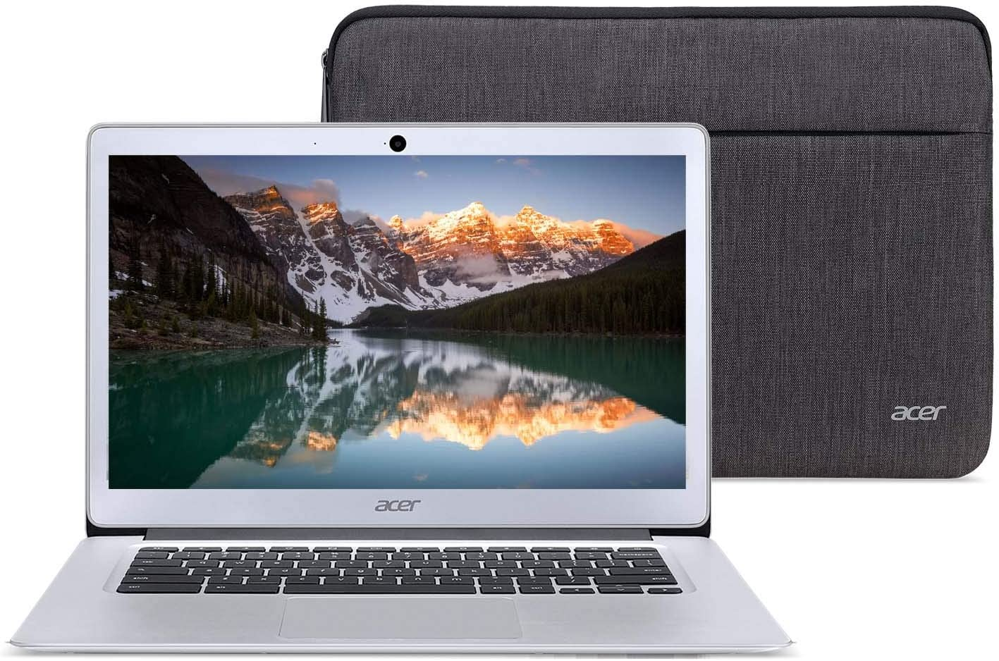 Acer Chromebook 14 Laptop Bundle Intel Quad Core E8000 up to 2GHz 4GB RAM 32GB eMMC 14inch LCD HDMI Web Cam (Renewed) (Bundle with Case)