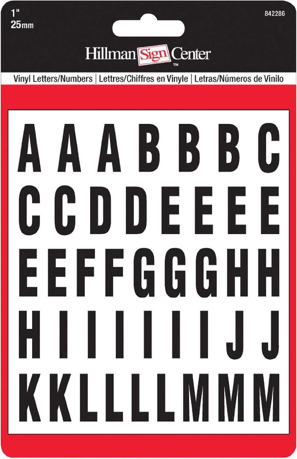 The Hillman Group 842286 1-Inch Die-Cut Letters and, Numbers Kit, Black (2 Pack)