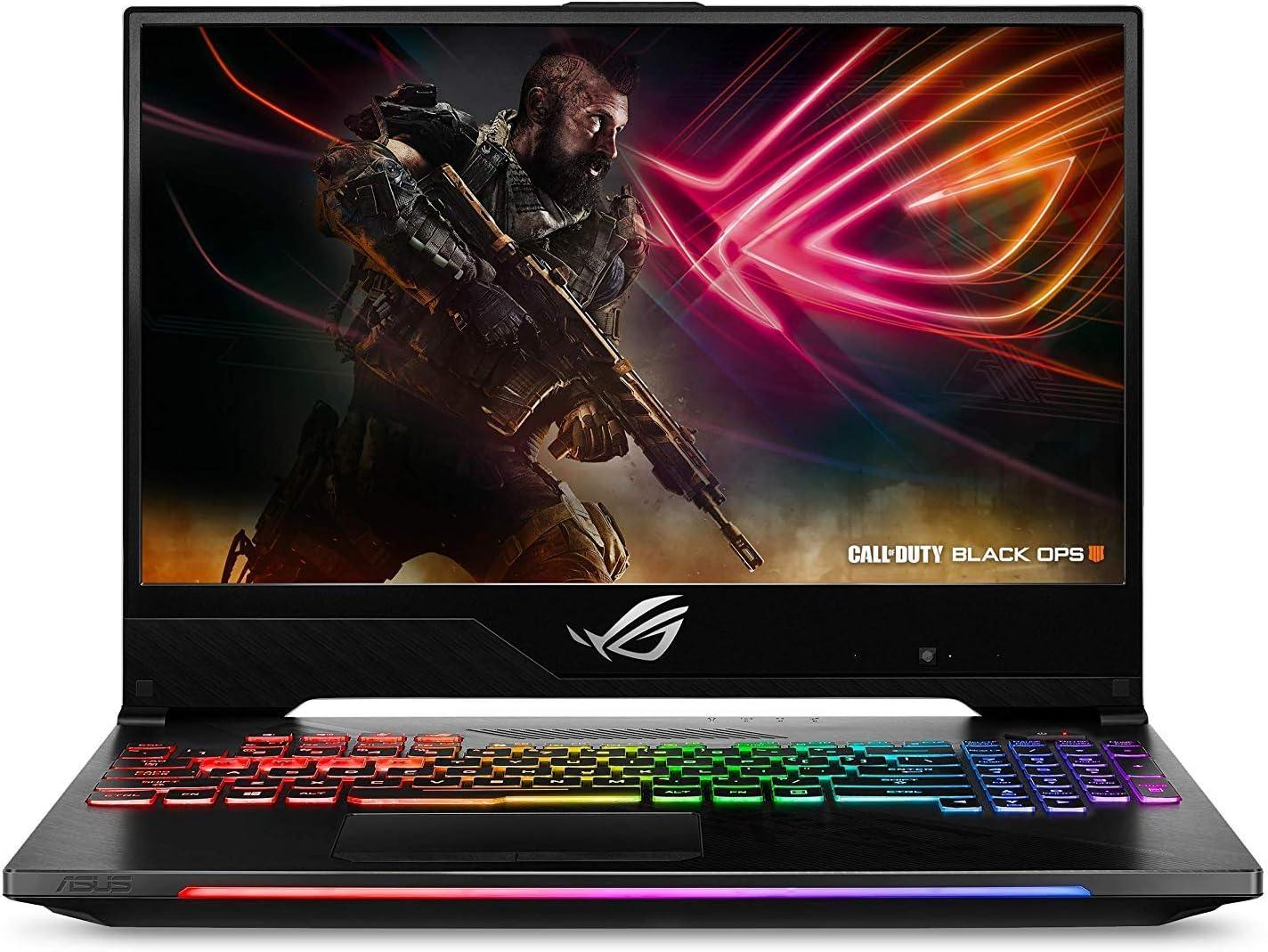 "2019 ASUS ROG Strix Hero II 15.6"" FHD Gaming Laptop, Intel 6-Core i7-8750H, 16GB RAM, 128GB SSD Boot + 1TB HDD, NVIDIA GeForce GTX 1060 6GB GDDR5, Backlit Keyboard, Windows 10"