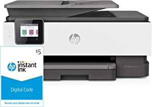 HP OfficeJet Pro 8025 All-in-One Wireless Printer (1KR57A) and Instant Ink $5 Prepaid Code