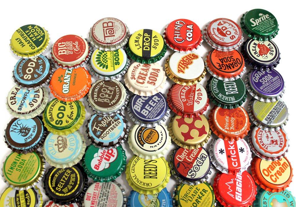 100 Vintage and Vintage Inspired Bottle Caps Random Mix Bottle Cap Co