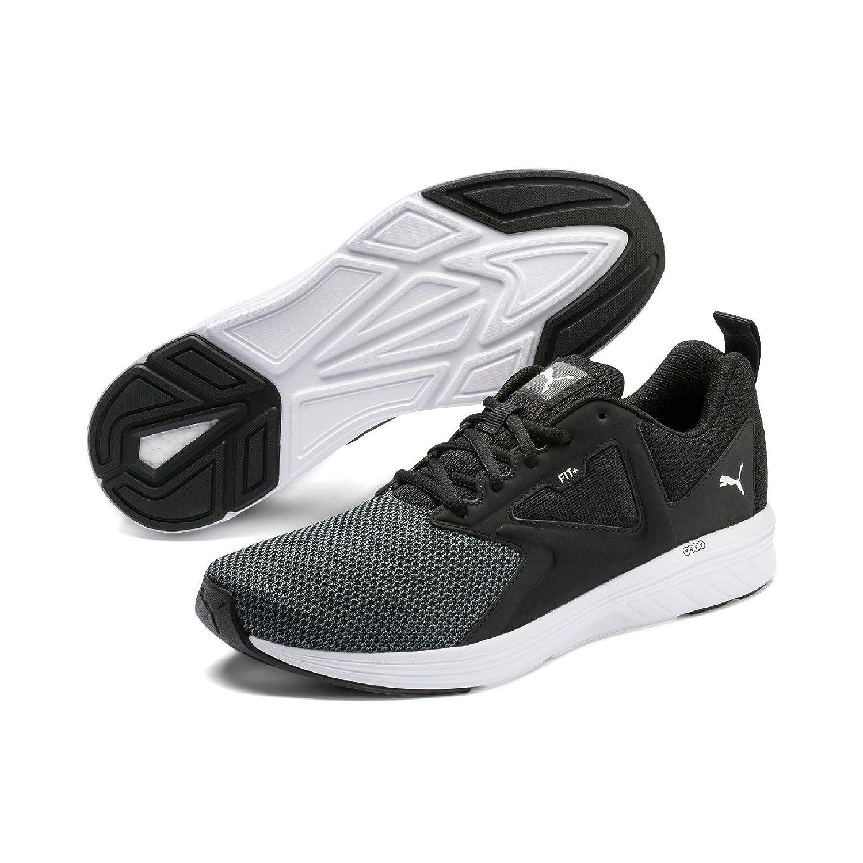 Puma Unisex's Nrgy Asteroid Black White Running Shoes