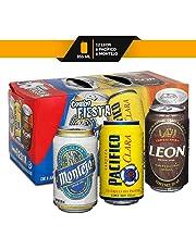 Cerveza Combo Fiesta León, Pacifico Y Montejo 355 Ml