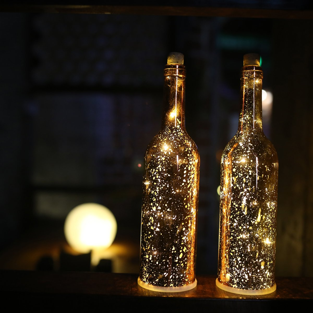 glass bottle lighting wine store home our feedback ask question product description bottle string light acelife wine led starry lights kit glass