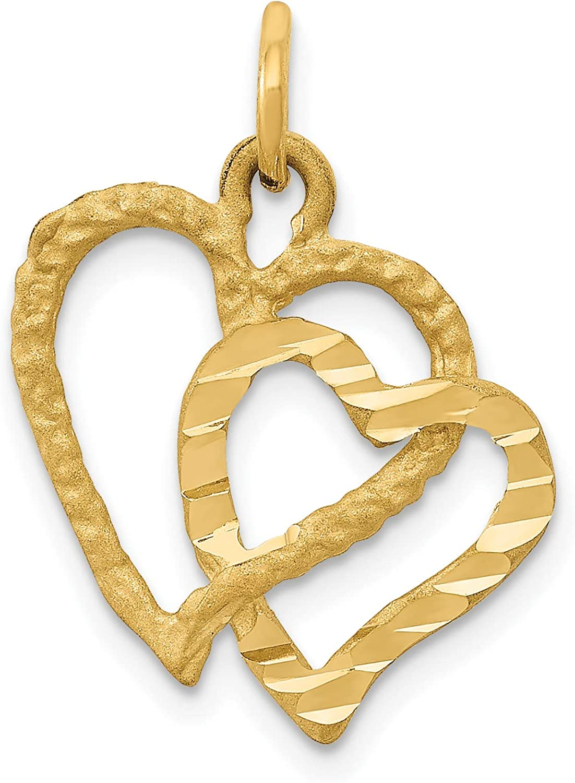 15 mm Jewels Obsession #1 Mom Charm Pendant 14K Yellow Gold #1 Mom Pendant