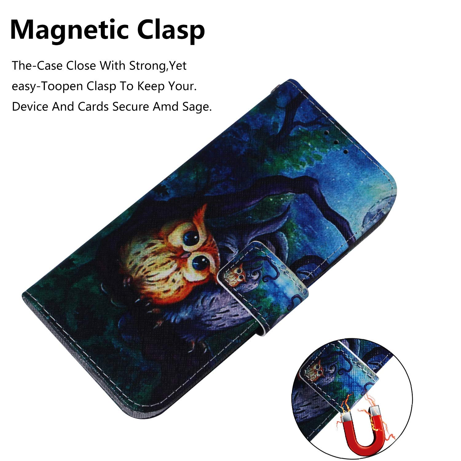 Lomogo Leather Wallet Case with Kickstand Card Holder Shockproof Flip Case Cover for Samsung Galaxy A40 LOTXI140046#6 Samsung Galaxy A40 Case