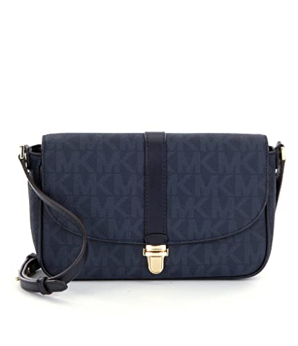 6982bbc39535 MICHAEL Michael Kors Charlton Large Crossbody (Signature Baltic Blue):  Handbags: Amazon.com