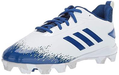 sale retailer e3d40 b3d29 adidas Unisex Adizero Afterburner V Baseball Shoe WhiteCollegiate RoyalGrey  1 M US