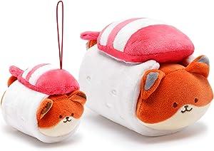Anirollz Plush Stuffed Animal 2pcs Set Fox Sushi Toy Gift Set for Kids Foxiroll
