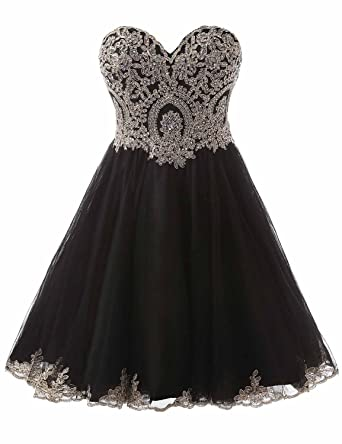 5acbaf077519 Belle House Strpaless Homecoming Dresses Short 2018 Tulle A Line Prom  Dresses for Juniors Black Graduation