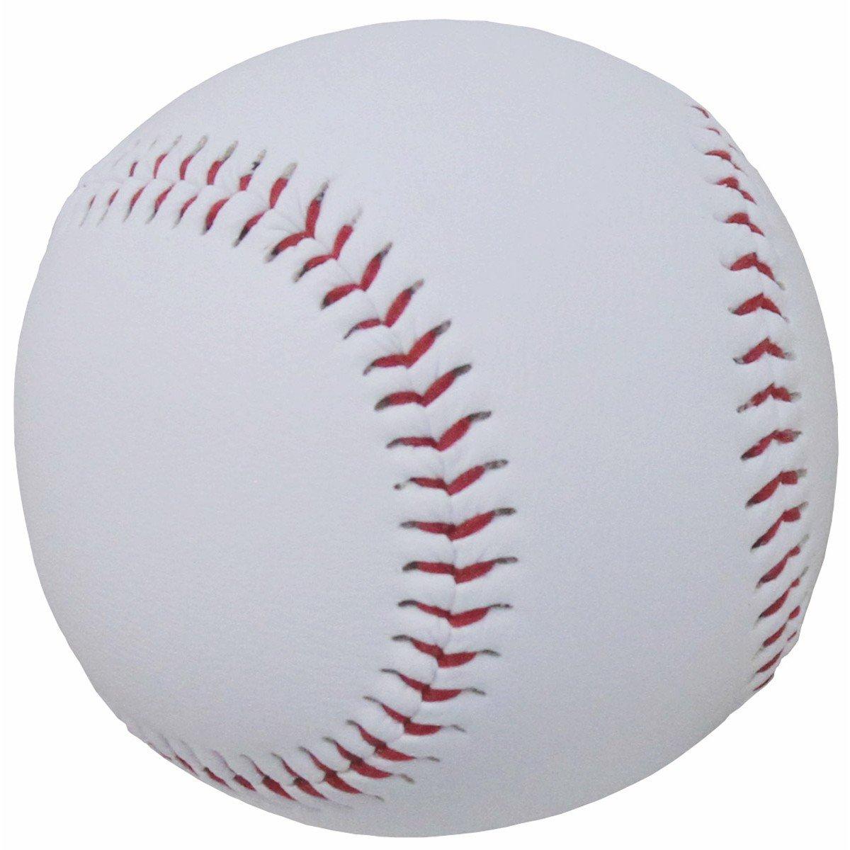 BKL1® Baseball Basic 5 OZ Ball für Baseballschläger Weiß Rot 1221