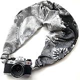 【カメラスリング】優しい肌触りのカメラ用ネック/ショルダーストラップ Lサイズ(オム/グレー)