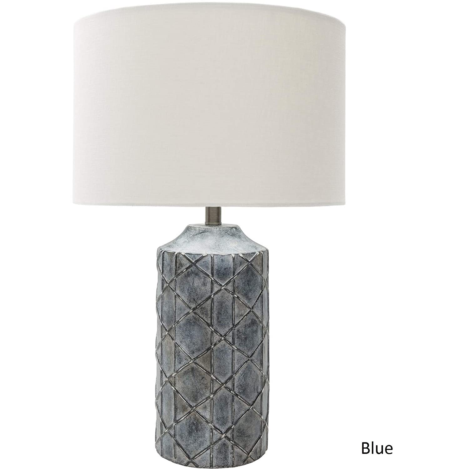 The Gray Barn Red Sky Antique Resin Base Table Lamp White Blue