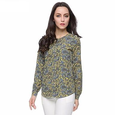 720f3b1c73849 Virtual Store USA Women paisley blouse ST2416 at Amazon Women s ...
