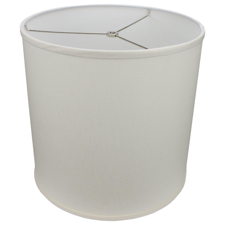 FenchelShades.com 14'' Top Diameter x 14'' Bottom Diameter 14'' Height Cylinder Drum Lampshade USA Made (Cream)