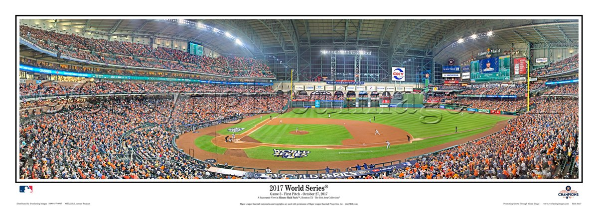 2017 World Series Houston Astros Minute Maid Park Field Stadium First Pitch Panoramic Poster #2120