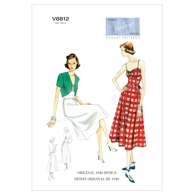 Vogue Patterns V8812 - Patrones de costura para vestidos con ...