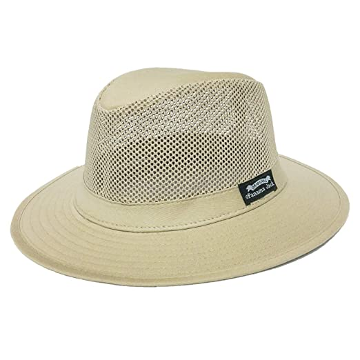 Panama Jack Mens Mesh Safari Sun Hat at Amazon Men s Clothing store  687843664be7