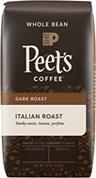 Peet's Whole Italian Deep Roast 12-Ounce Bean Coffee Bag