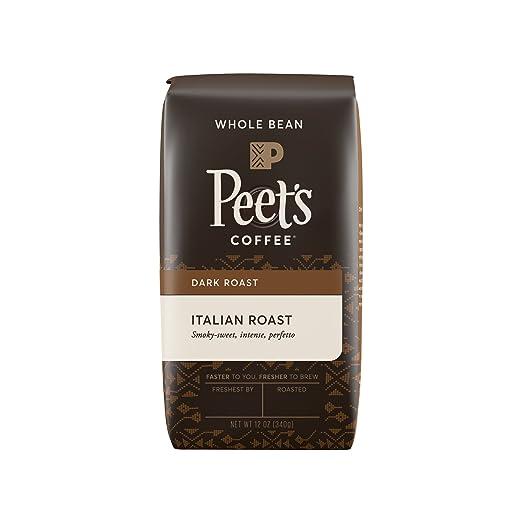 Peet's Whole Bean Coffee, Italian Roast, Deep Roast, 12-Ounce bag