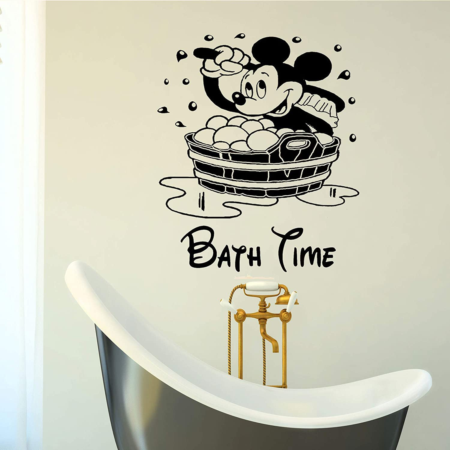 Mickey and minnie mouse vinyl sticker great for cars trucks bikes toy boxes nursery kids room windows kitchen bathroom bath tubs