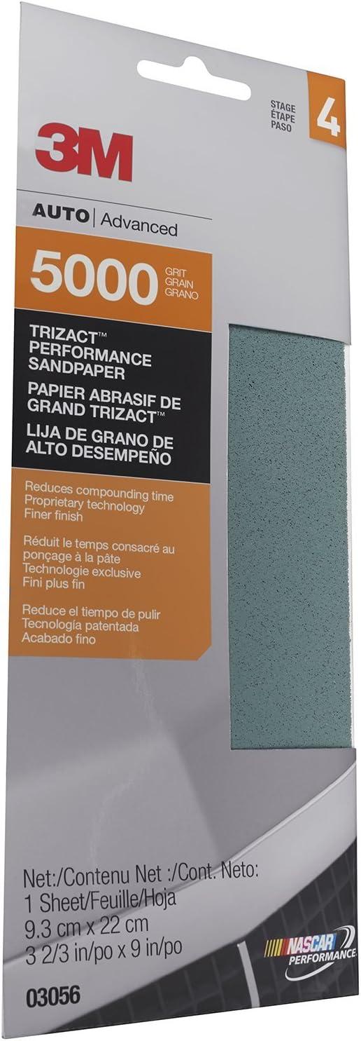 "3M (3056) Trizact 3-2/3"" x 9"" 5000 Grit Performance Sandpaper 71j45Kye0jL"
