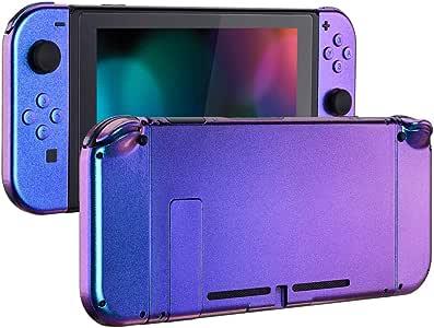 eXtremeRate Carcasa para Nintendo Switch,Funda Completa para Mando Controlador Consola Joy-con de Nintendo Switch Shell de Bricolaje reemplazable con Botón Completo (Camaleónica de Azul a Violeta): Amazon.es: Electrónica