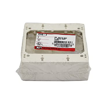 Wiremold Legrand 2348-2 2 Gang Deep Device Box Non-Metallic Ivory ...