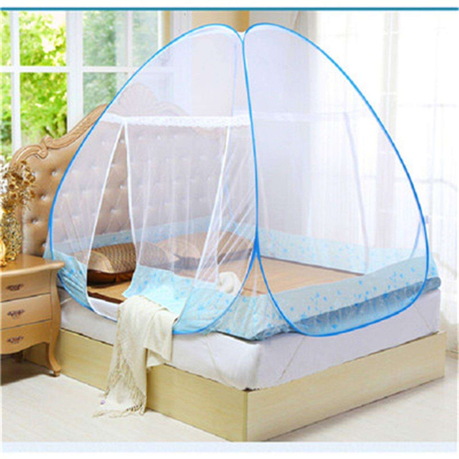 Mosquito Net for Bed Pink Blue Purple Student Bunk Bed Net Mesh Adult Double Bed Netting Tent Mosquito,D by Try My Best Mosquito Net (Image #3)