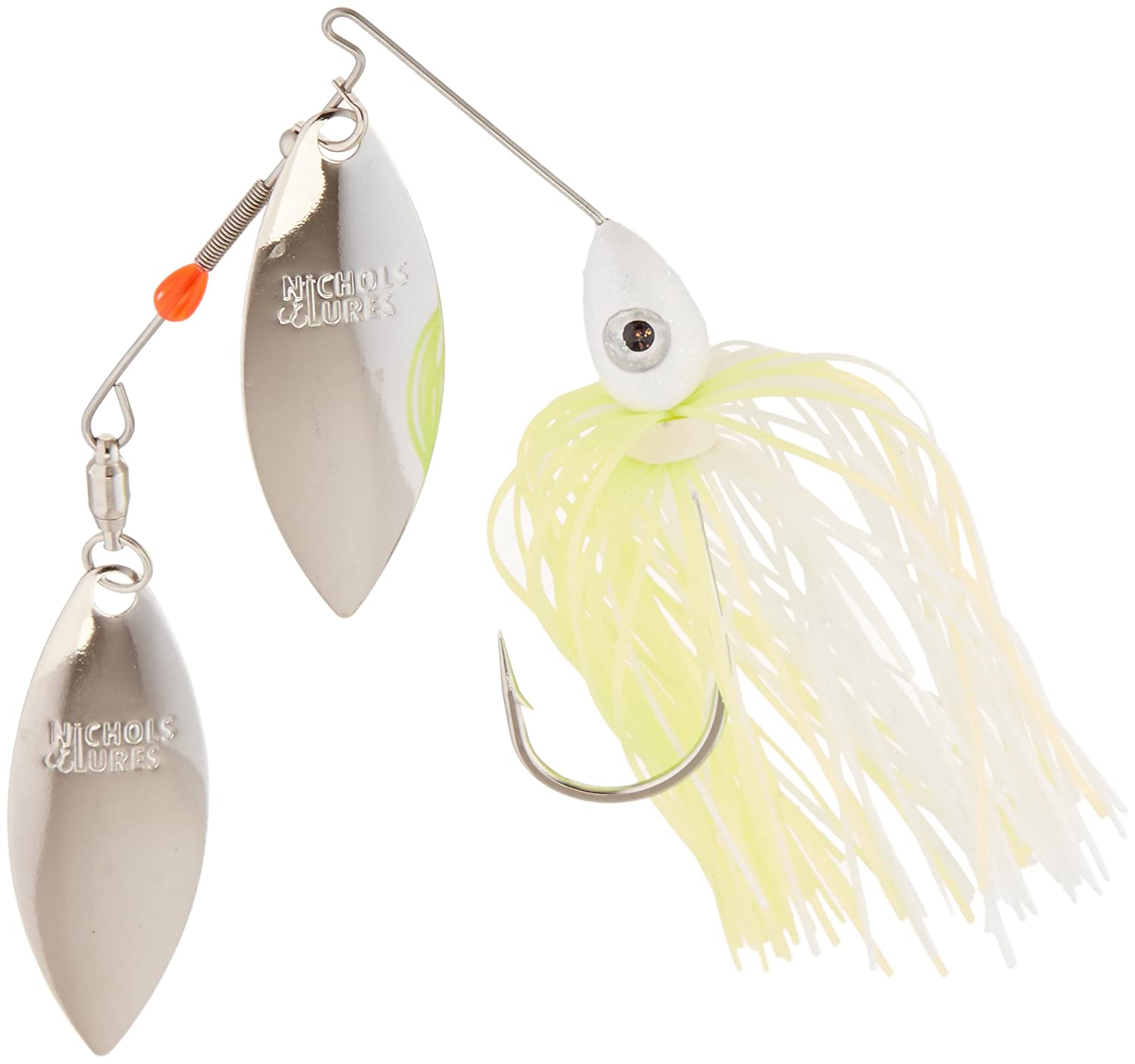Nichols Lures Pulsator 800シリーズSpinnerbait B06Y2C6H6B 3/8oz|White and Chartreuse White and Chartreuse 3/8oz