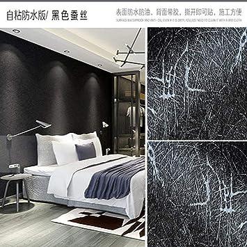 Pasta, en blanco y negro, muebles de rejilla, dormitorio impermeable, papel tapiz, papel de escritorio, seda negra: Amazon.es: Bricolaje y herramientas