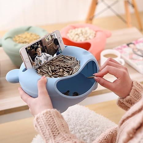 Plato Redondo De Frutos Secos Caja Multifunción Para Cocina Xd Panda Bol De Cocina Para Pipas Color Verde Plástico Cuencos Y Tazones Cubertería Vajilla Y Cristalería