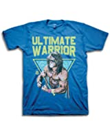 Ultimate Warrior Pose WWE Mens Blue T-shirt